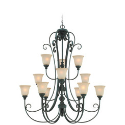 Craftmade 24212-MB Barrett Place Two Tier Chandelier