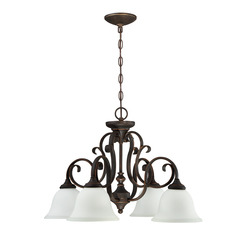 Craftmade 24224-MB-WG 4 Light Down Chandelier