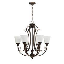 Craftmade 24226-MB-WG 6 Light Chandelier