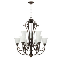Craftmade 24229-MB-WG 9 Light Chandelier