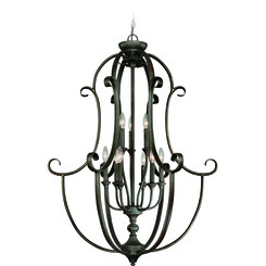 Craftmade 24239-MB Barrett Place Foyer Chandelier