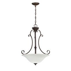 Craftmade 24243-MB-WG Barrett Place 3 Light Inverted Pendant