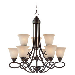 Craftmade 25029-OLB Cordova Two Tier 9 Light Chandelier