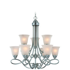 Craftmade 25029-SN Cordova Two Tier 9 Light Chandelier