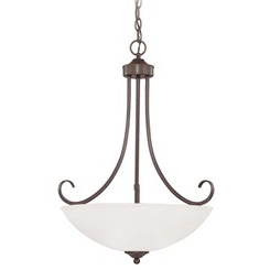 Craftmade 25323-OB-WG Raleigh Inverted Pendant