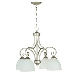 Craftmade 25324-SN-WG Raleigh Down Chandelier