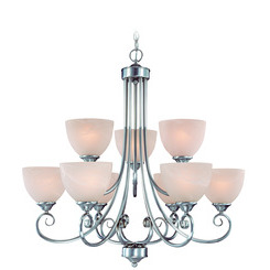 Craftmade 25329-SN Raleigh Two Tier 9-Light Chandelier