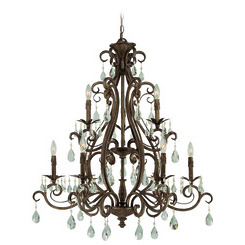 Craftmade 25629-FR Englewood Two Tier Chandelier