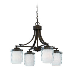 Craftmade 35424-PR Kenswick 4 Light Down Chandelier