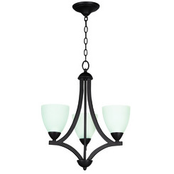 Craftmade 37723-OB-WF Almeda 3 Light Chandelier
