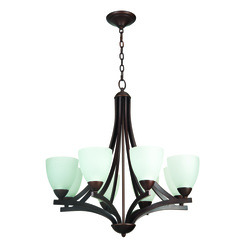 Craftmade 37728-OB-WF Almeda 8 Light Chandelier - Oiled Bronze w/White Frost