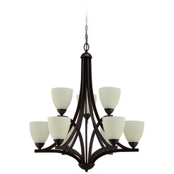 Craftmade 37729-OB Almeda 9 Light Chandelier