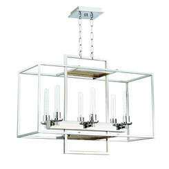 Craftmade 41526-CH Cubic 6 Light Chandelier in Chrome
