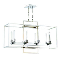 Craftmade 41528-CH Cubic 8 Light Chandelier in Chrome