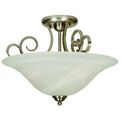 Craftmade 7118BN3SF Cecilia Semi Flush - Brushed Satin Nickel
