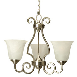 Craftmade 7120BNK3 Cecilia 3 Up-Light Chandelier - Brushed Satin Nickel