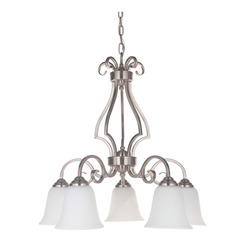 Craftmade 7125BNK5-WG 5 Light Down Chandelier
