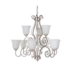 Craftmade 7131BNK9-WG Cecilia 9 Light Chandelier
