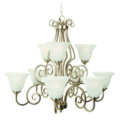 Craftmade 7131BNK9 Cecilia Two Tier Chandelier