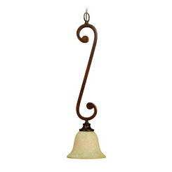 Craftmade 9107PR1 Toscana 1 Light Mini Pendant - Peruvian Bronze