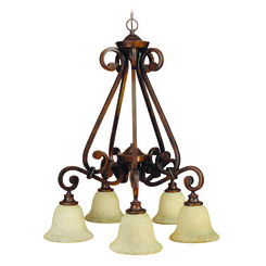 Craftmade 9127PR5 Toscana 5 Down-Light Chandelier