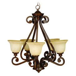Craftmade 9128PR5 Toscana 5 Up-Light Chandelier