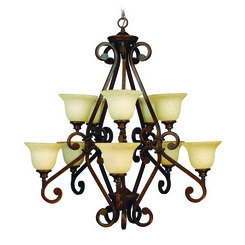 Craftmade 9138PR10 Toscana Two Tier Chandelier