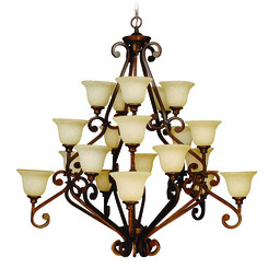 Craftmade 9152PR20 Toscana Three Tier 20 Light Chandelier - Peruvian Bronze