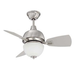 "Craftmade DA30SS3 30"" Ceiling Fan with Blades Included - Stainless Steel"