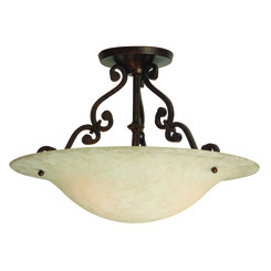 Craftmade X1816-AG Toscana Semi Flush