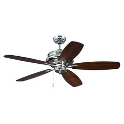 "Craftmade YOR52PLN5 Yorktown 52"" Ceiling Fan with Blades Included - Polished Nickel"