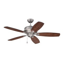"Craftmade YOR52PT5 52"" Ceiling Fan with Blades Included - Pewter"