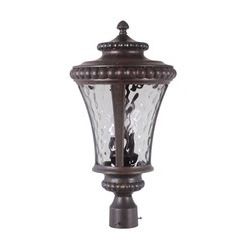 Craftmade Z1275-112 Prescott II 3 Light Large Post Mount - Peruvian Bronze