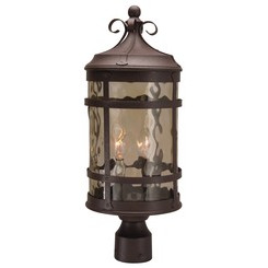 Craftmade Z5015-91 2 Light Post Mount - Rustic Iron