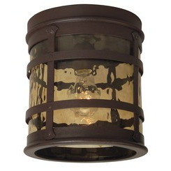 Craftmade Z5017-91 1 Light Flushmount - Rustic Iron