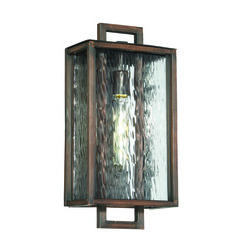Craftmade Z9814-12 Cubic 1 Light Medium Wall Mount in Aged Bronze Brushed with Clear Water Glass