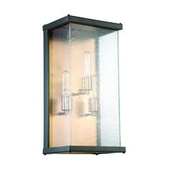 Craftmade Z9922-31 Farnsworth 3 Light Large Wall Mount in Midnight/Patina Aged Brass with Clear Seeded Glass