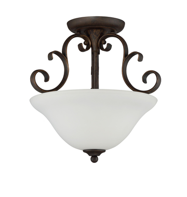 Craftmade 24263-MB-WG 3 Light Semi Flush