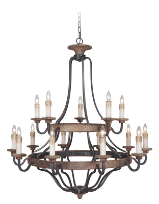 Craftmade 36515-TBWB Ashwood Two Tier Chandelier