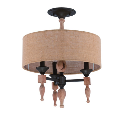 Craftmade 38153-JBZDO Glenwood 3 Light Convertible Semi Flush